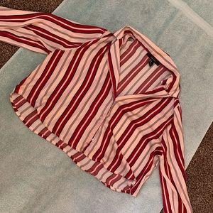Striped long sleeve like crop top